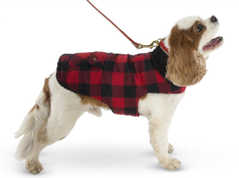 Up Country Buffalo Check Fleece Lined Dog Coat