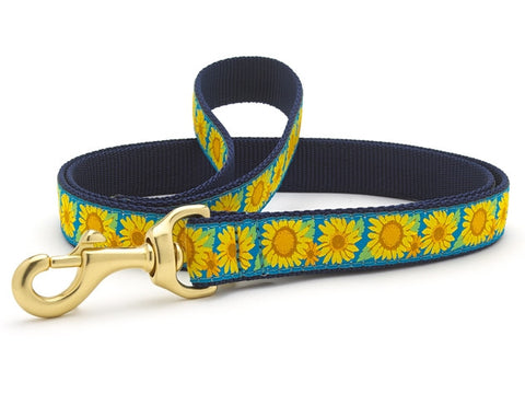 Up Country Bright Sunflower Dog Leash