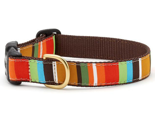 Up Country Brown Stripe Dog Collar