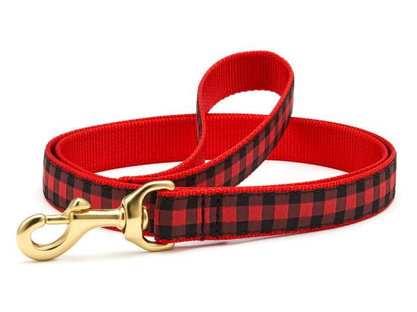 Up Country Buffalo Check Dog Leash