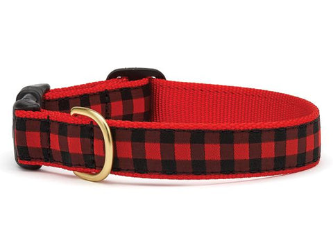 Up Country Buffalo Check Dog Collar