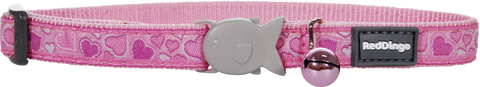 Red Dingo Designer Cat Safety Collar - Breezy Love (Pink)