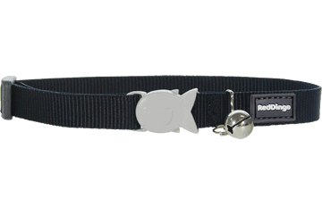 Red Dingo Designer Cat Safety Collar - Classic Black