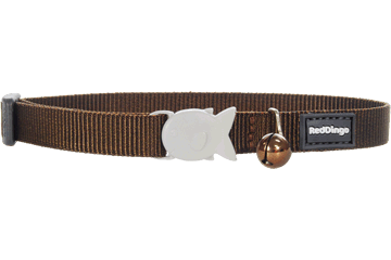 Red Dingo Designer Cat Safety Collar - Classic Brown