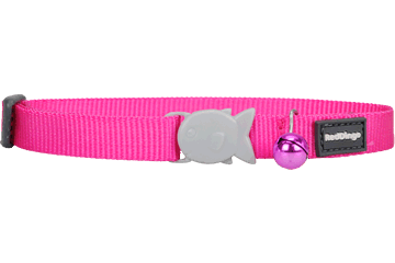 Red Dingo Designer Cat Safety Collar - Classic Hot Pink