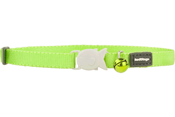 Red Dingo Designer Cat Safety Collar - Classic Lime Green