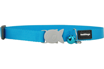 Red Dingo Designer Cat Safety Collar - Classic Turquoise
