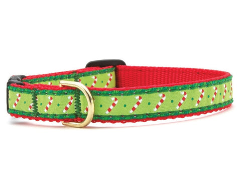 Up Country Candy Cane Cat Collar