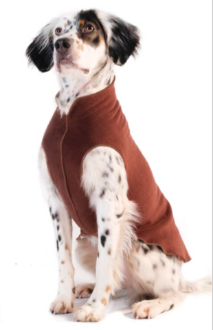 Gold Paw Stretch Fleece Dog Coat - Chestnut Brown