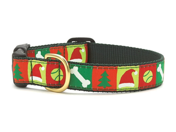 Up Country Christmas List Dog Collar