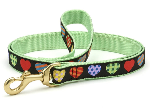 Up Country Colorful Hearts Dog Leash