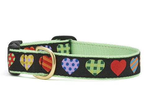 Up Country Colorful Hearts Dog Collar