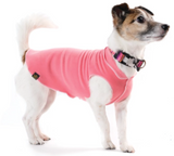 Gold Paw Stretch Fleece Dog Coat - Coral Pink