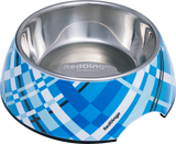 Red Dingo Premium 2-in-1 Dog Bowl - Turquoise Flanno