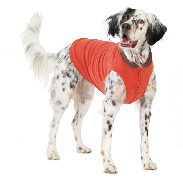 Duluth Double Fleece Pullover Dog Sweater - Paprika/Chesnut