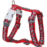 Red Dingo Designer Dog Harness - Bonarama (Red)