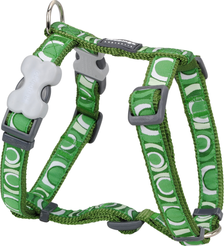 Red Dingo Designer Dog Harness - Circadelic (Green)