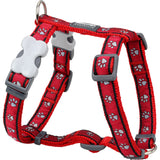 Red Dingo Designer Dog Harness - Red Pawprints