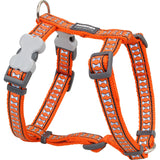Red Dingo Designer Dog Harness - Reflective Bones (Orange)