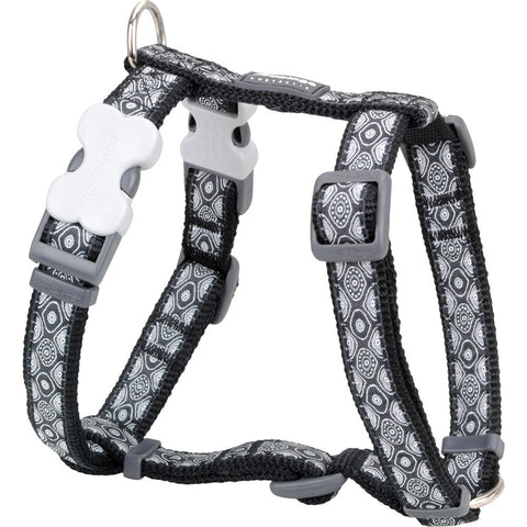 Red Dingo Designer Dog Harness - Snake Eyes (Black)