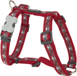Red Dingo Designer Dog Harness - Skull & Roses