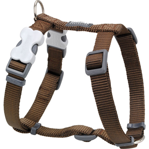 Red Dingo Classic Dog Harness - Brown
