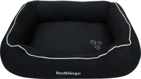 Red Dingo Microfiber Donut Dog Bed - Black