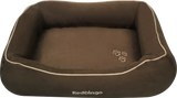 Red Dingo Microfiber Donut Dog Bed - Chocolate