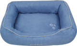 Red Dingo Microfiber Donut Dog Bed - Sky Blue