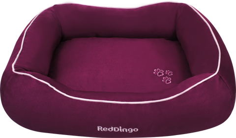 Red Dingo Microfiber Donut Dog Bed - Purple