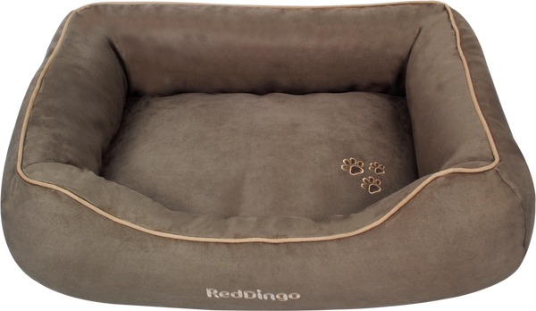 Red Dingo Microfiber Donut Dog Bed - Taupe