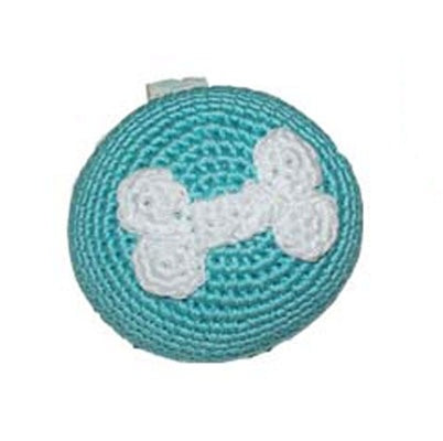 Blue Bone Ball Dog Toy with Squeaker
