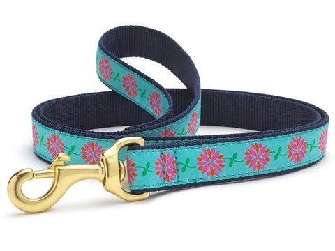 Up Country Dahlia Darling Dog Leash