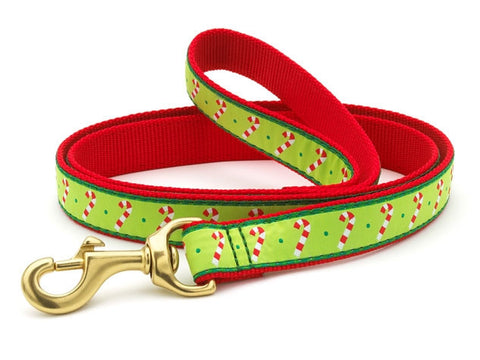 Up Country Candy Cane Dog Leash