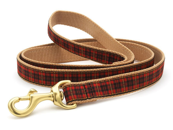 Up Country New Red Plaid Dog Leash
