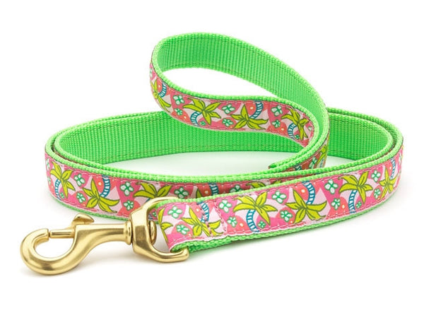 Up Country Pink Palms Dog Leash