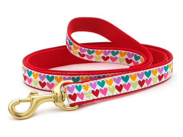 Up Country Pop Hearts Dog Leash