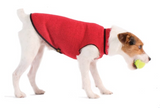 Eco Fleece Pullover Dog Sweater - Ruby Red