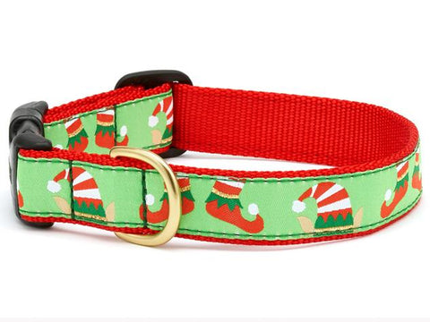 Up Country Christmas Elves Dog Collar