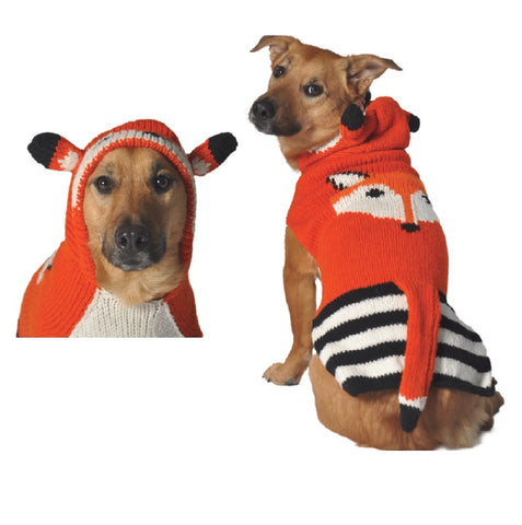 Chilly Dog Foxy Hoodie Dog Sweater