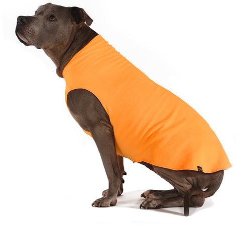 Gold Paw Stretch Fleece Dog Coat - Blaze Orange