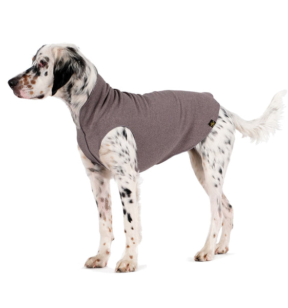 Gold Paw Stretch Fleece Dog Coat - Charcoal Gray