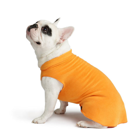 Gold Paw Stretch Fleece Dog Coat - Pumpkin Orange