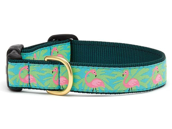 Up Country Flamingo Dog Collar