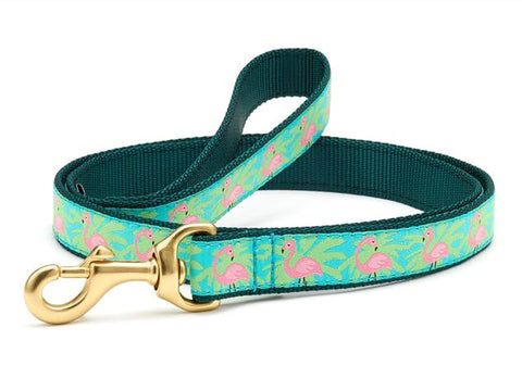 Up Country Flamingo Dog Leash
