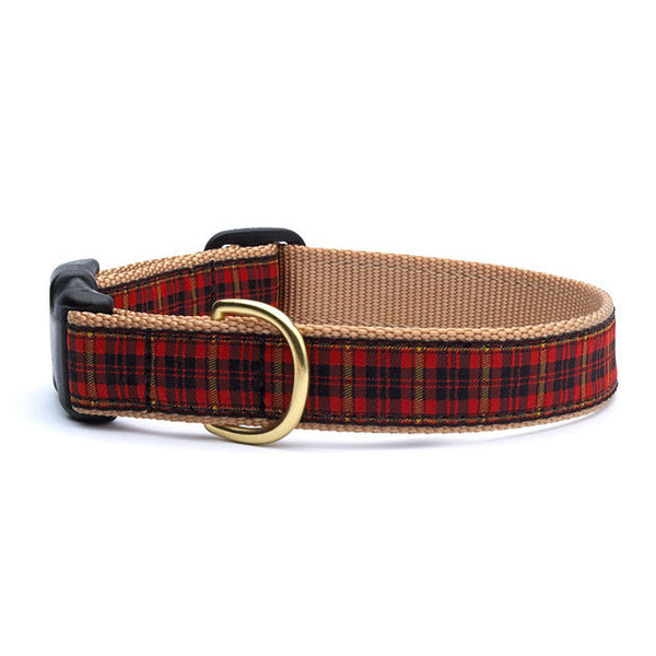 Up Country New Red Plaid Dog Collar