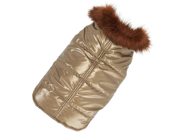 Up Country Aspen Puffer Dog Coat - Gold