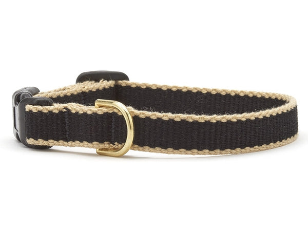 Up Country Green Market Bamboo Cat Collar - Black & Tan