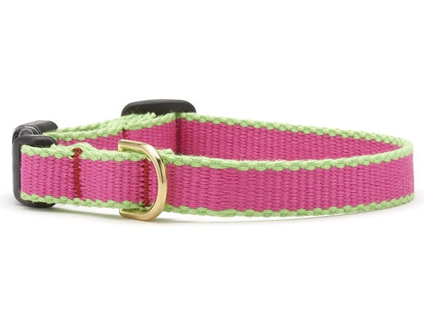 Up Country Green Market Bamboo Cat Collar - Pink & Lime