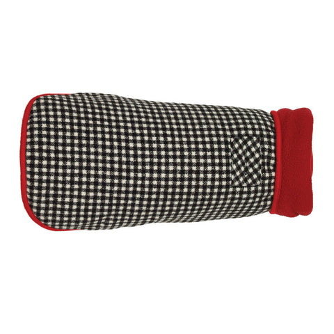 Up Country Houndstooth Fleece Lined Dog Coat